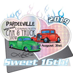 16th Annual Pardeeville Community Car & Truck Show Logo